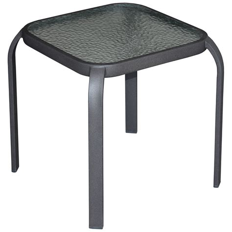 Square Patio Table With Glass Top