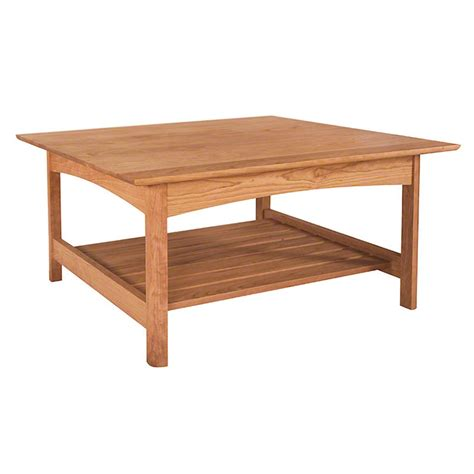 Square Shaker Coffee Table Woodworking Plans