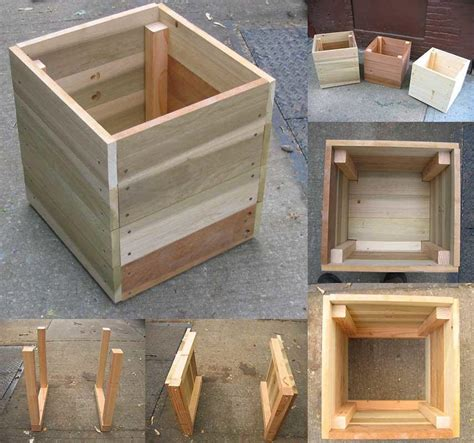 Square Wood Planter Box Diy