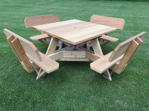 Square Wooden Picnic Table Plans