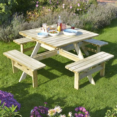 Square-Wooden-Picnic-Table-Plans