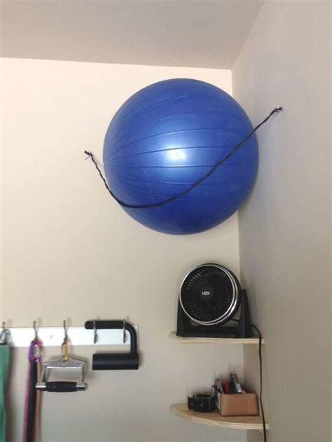 Stability Ball Storage Diy Shelves