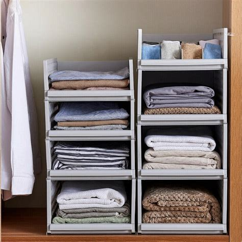 Stackable Diy Closet Clothes Storage