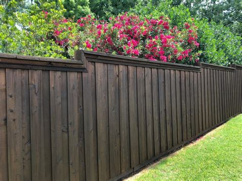 Stain Wood Fence Diy