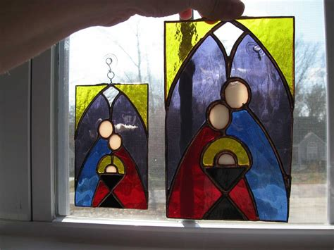 Stained Glass Nativity Pattern