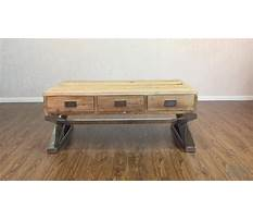 Best Stainless steel coffee table with revlaimed elm wood top