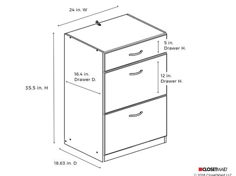 Standard Cabinet Dimensions Drawers