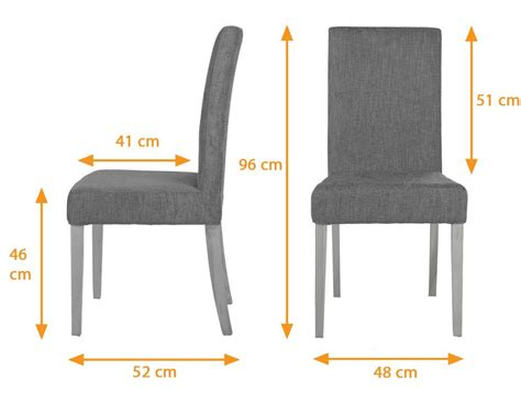 Standard Chair Dimensions Dining