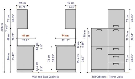 Standard Kitchen Cabinet Sizes In Cm
