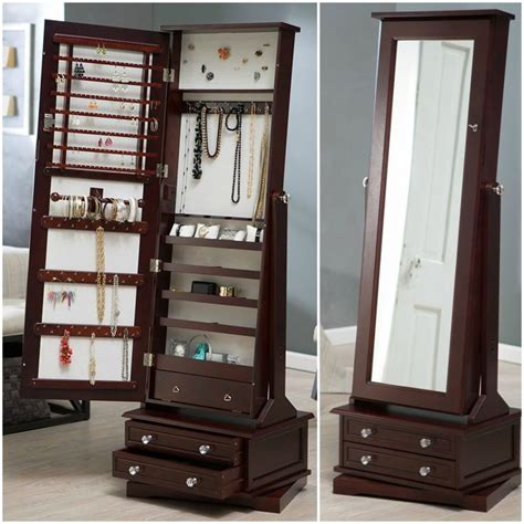 Standing Mirror Jewelry Armoire Plans