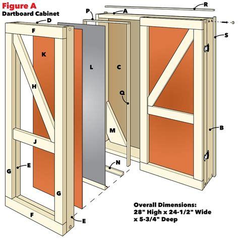 Standing-Dartboard-Cabinet-Plans