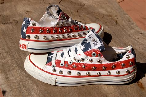 Stars And Stripes Converse Sneakers