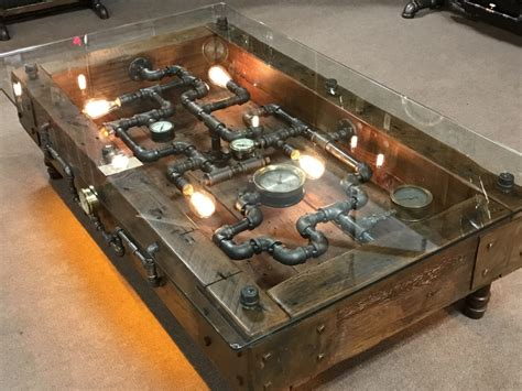 Steampunk Coffee Table Diy Pinterest