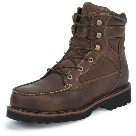 Steel Toe Men's Lightweight Work Boots Moc Toe Boot Insulated