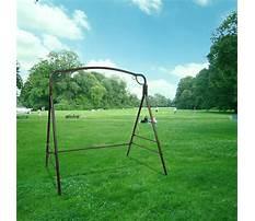 Best Steel a frame swing set