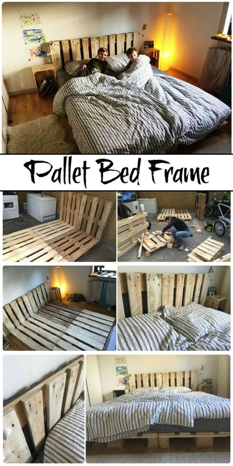 Step By Step Diy Pallet Bed Frames