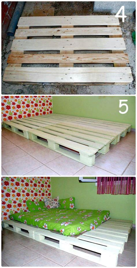 Step By Step Diy Pallet Bed Instructions