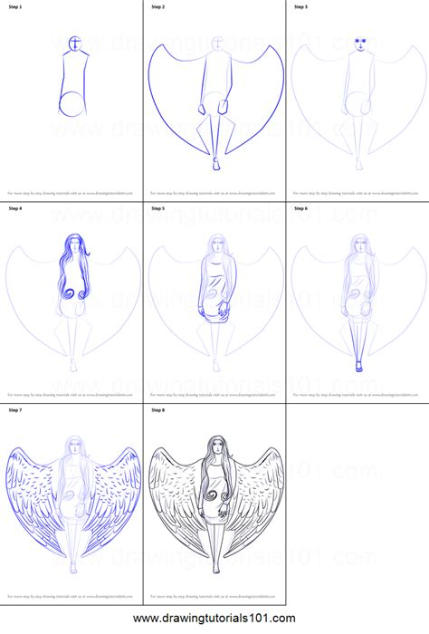 Step By Step How To Draw A Angel