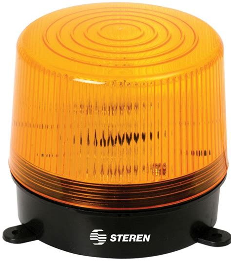 Steren 6-12 VDC Flashing Strobe Light - Yellow
