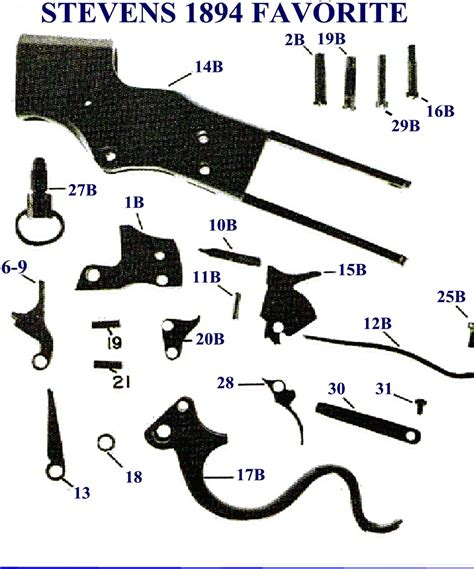 Stevens Favorite Rifle Parts For Sale And Winchester Model 1873 Rifle Parts