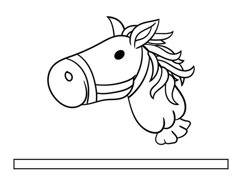 Stick Horse Head Pattern Free