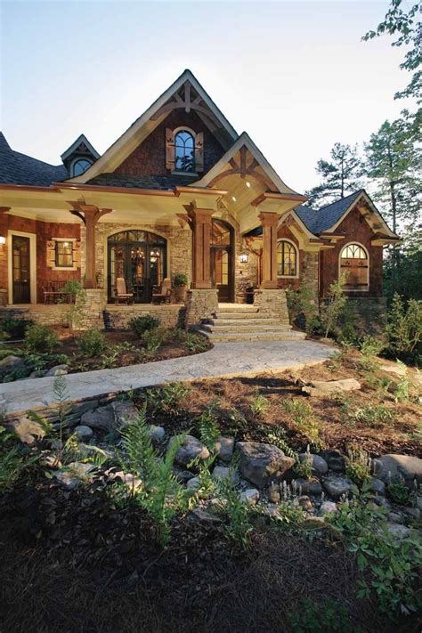 Stone-And-Wood-Craftsman-House-Plans