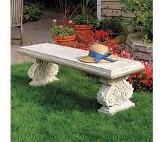 Best Stone garden bench