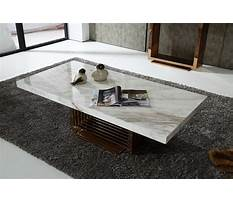 Best Stone quartz or marble coffee and end tables