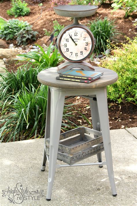Stool To Side Table Diy
