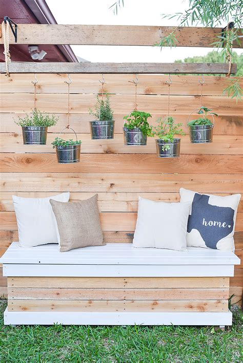 Storage Bench Outdoor DIY Christmas Decorations