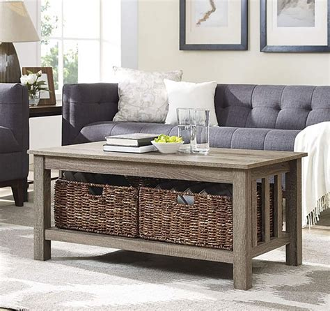 Storage Bench Plans Coffee Table With Baskets