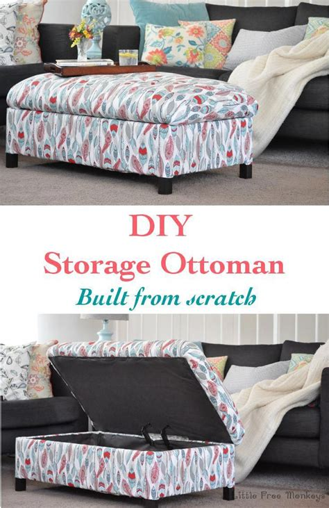 Storage Ottoman Slipcover Diy Projects