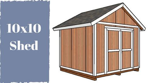 Storage Shed Building Plans Free 10x10