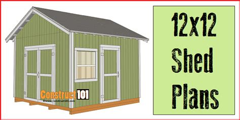 Storage Shed Plans 12x12 Free