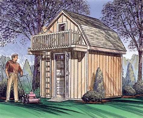 Storage Shed With Playhouse Loft Plans
