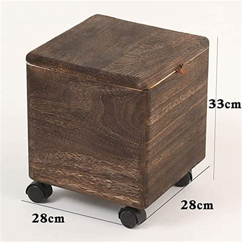 Storage Stool With Wheels
