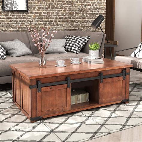 Storage end table with doors Image