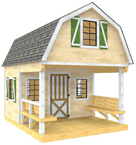 Storage-Shed-With-Porch-And-Loft-Plans