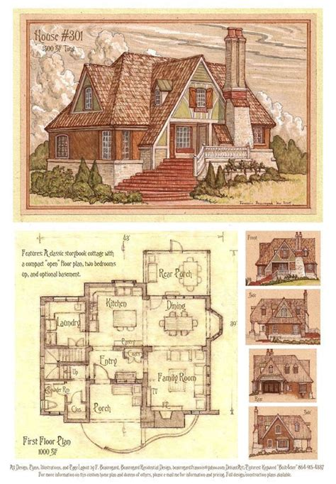 Storybook Cottage House Plans Free