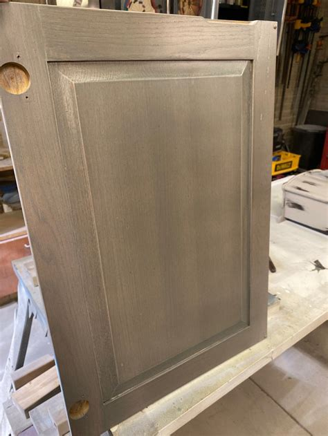 Stripping And Staining Oak Cabinets