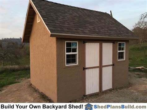 Stucco-Storage-Shed-Plans