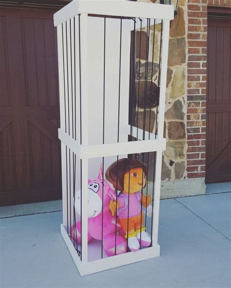 Stuffed Animal Cage Diy Clear
