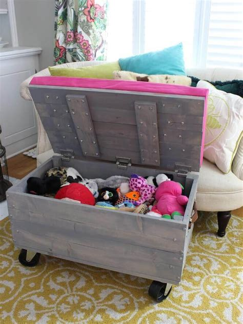 Stuffed Animal Diy Storage Ottoman