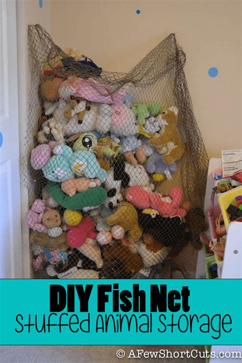 Stuffed Animal Storage Net Diys