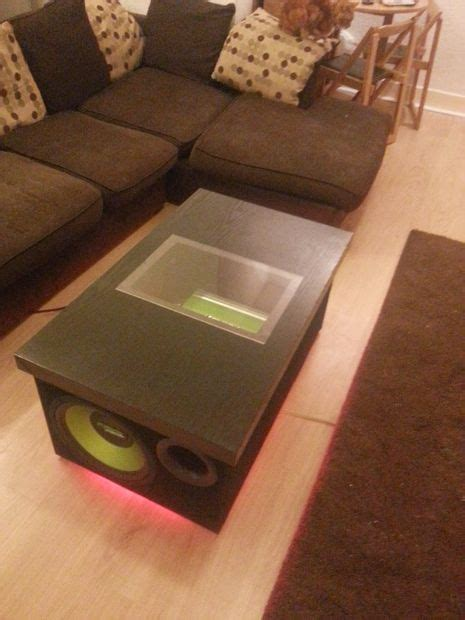 Subwoofer Coffee Table Diy