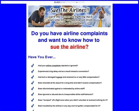 @ Sue The Airline - Collect Compensation Now For Your Troubles Click Here To Download.