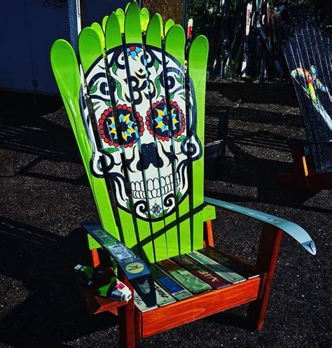 Sugar Skull Adirondack Chair Plans