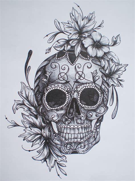 Sugar Skull Pencil Drawing