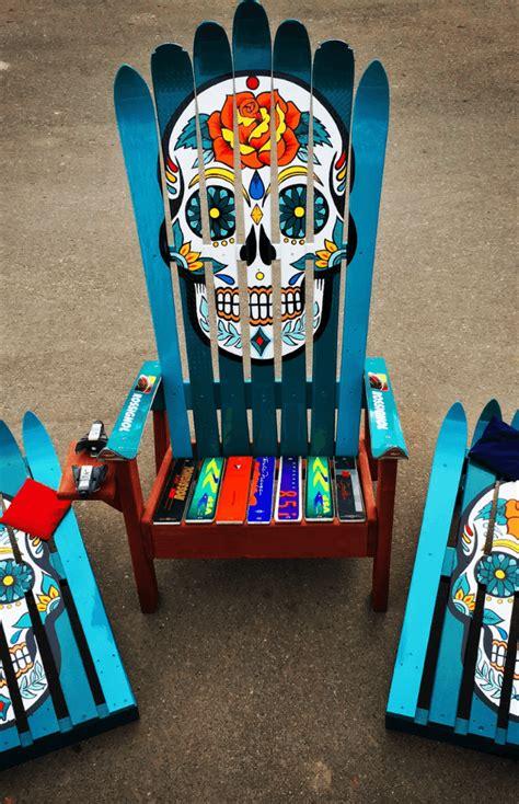 Sugar-Skull-Adirondack-Chairs