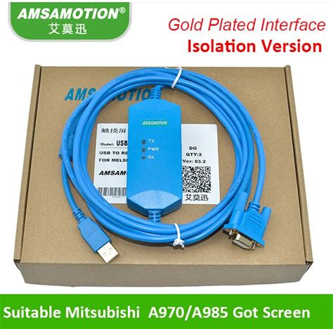 Suitable Mitsubishi A970 985GOT Touch Panel Programming Cable USB-AC30R2-9SS+ Download line (USB-AC30R2-9SS+)